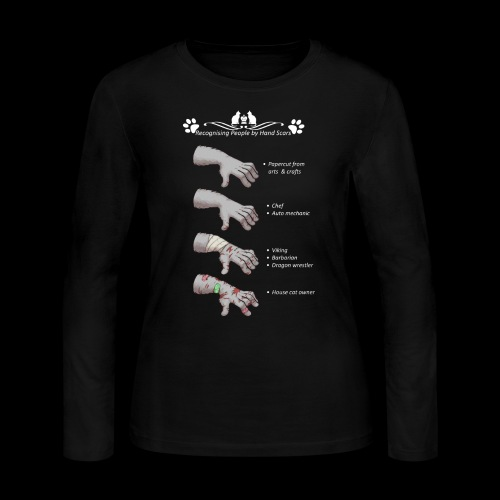 Recognizing People by Hand Scar - Women's Long Sleeve Jersey T-Shirt