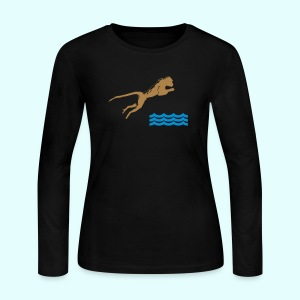 Diving Monkey - Women's Long Sleeve Jersey T-Shirt