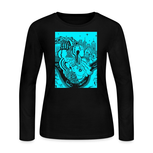 Louisiana River Nights - Women's Long Sleeve Jersey T-Shirt