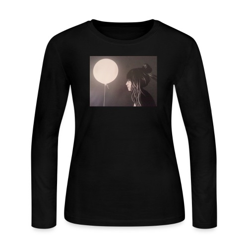Moon Bright - Women's Long Sleeve Jersey T-Shirt