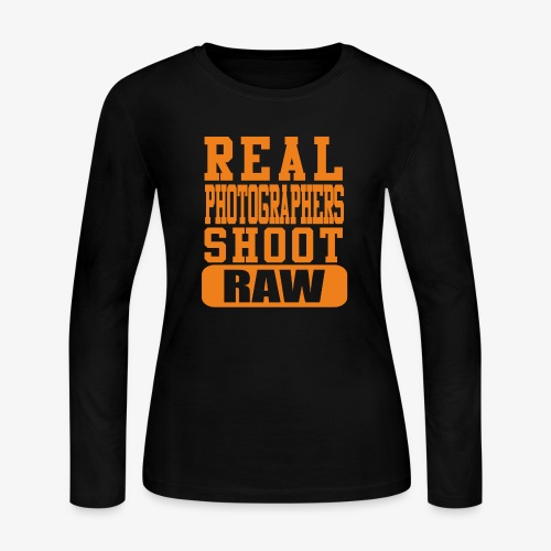 Real Photgs Orange - Women's Long Sleeve Jersey T-Shirt