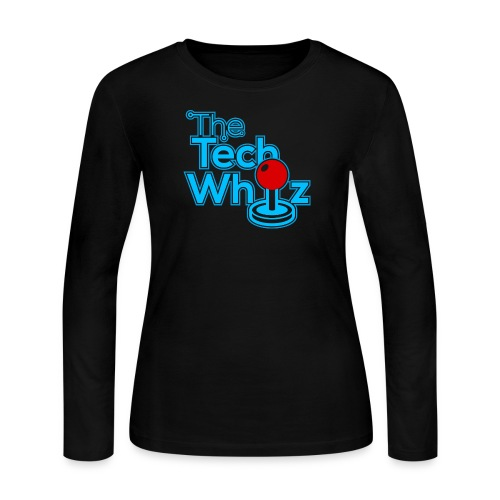 TheTechWhiz Stacked Logo - Women's Long Sleeve Jersey T-Shirt