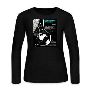 Know Your Galaxy Of Your Breast - Women's Long Sleeve Jersey T-Shirt