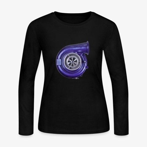Blue Turbo Boost - Women's Long Sleeve Jersey T-Shirt