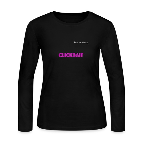 CLICKBAIT MERCHANDISE - Women's Long Sleeve Jersey T-Shirt
