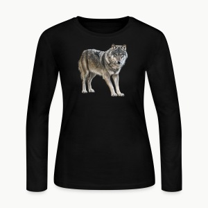european wolf - Women's Long Sleeve Jersey T-Shirt