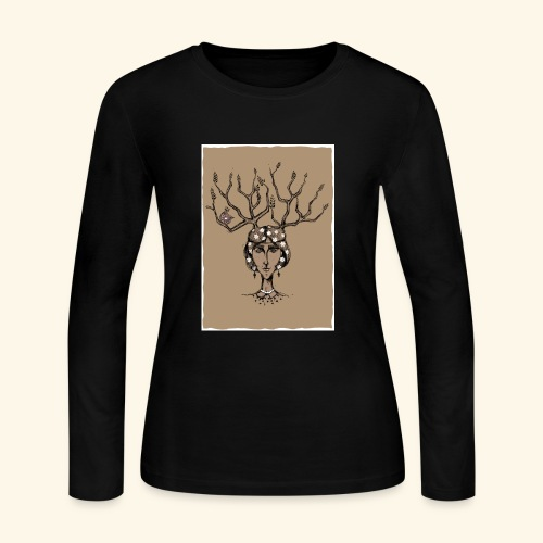 The Tree Girl - Women's Long Sleeve Jersey T-Shirt