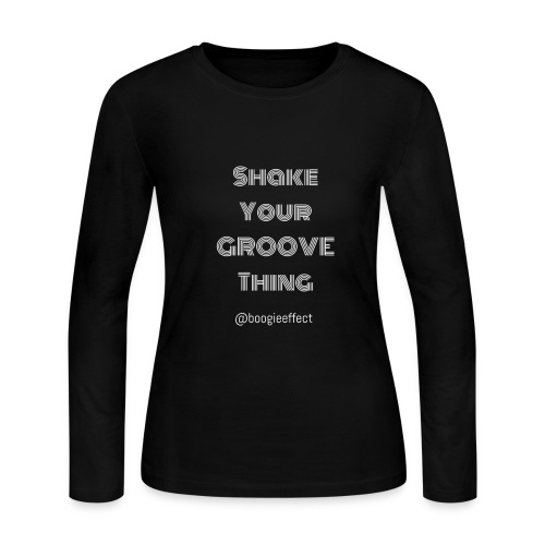 shake your groove thing white - Women's Long Sleeve Jersey T-Shirt