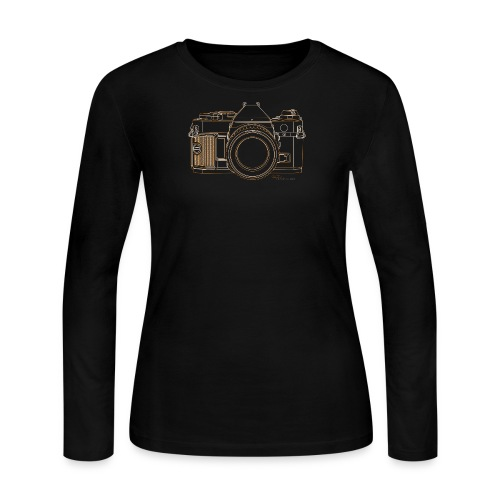 Camera Sketches - Canon AE1 Program - Women's Long Sleeve Jersey T-Shirt