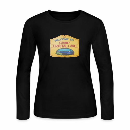 camp crystal lake sign - Women's Long Sleeve Jersey T-Shirt
