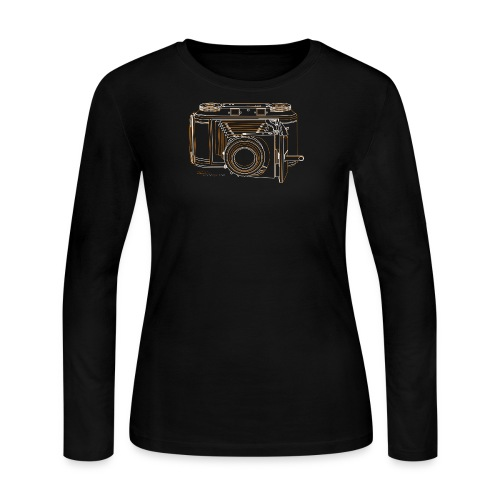 Camera Sketches - Voigtlander Synchro Compur - Women's Long Sleeve Jersey T-Shirt