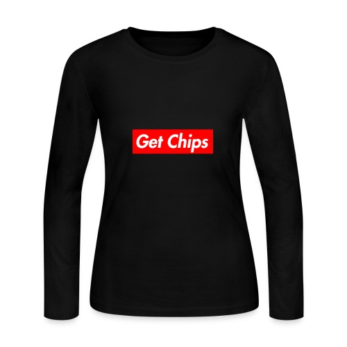 Get Chips Black - Women's Long Sleeve Jersey T-Shirt
