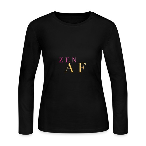 Zen AF - Women's Long Sleeve Jersey T-Shirt