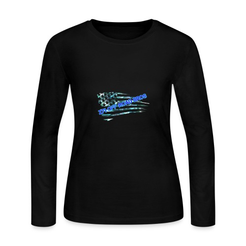 flag logo - Women's Long Sleeve Jersey T-Shirt
