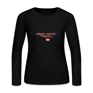 Drift Wood Official Merchandise WHITE - Women's Long Sleeve Jersey T-Shirt