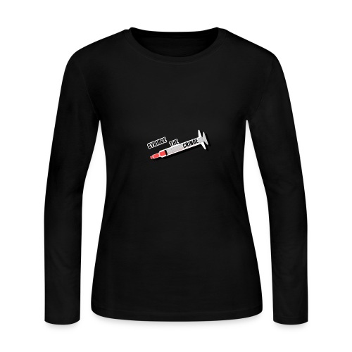 syringe the cringe - Women's Long Sleeve Jersey T-Shirt