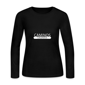 caminos cruzados logo blanco - Women's Long Sleeve Jersey T-Shirt