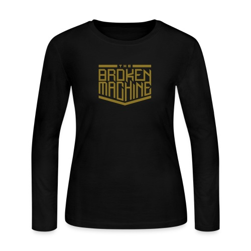 TheBrokenMachine Emblem Logo - Women's Long Sleeve Jersey T-Shirt