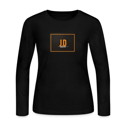 JD Logo Main Line - Women's Long Sleeve Jersey T-Shirt