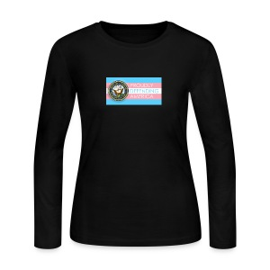 Transgender Navy - Women's Long Sleeve Jersey T-Shirt