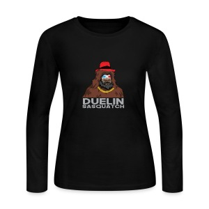 Duelin Sasquatch - Women's Long Sleeve Jersey T-Shirt