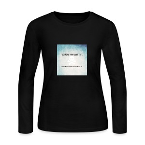 I do more than try - Women's Long Sleeve Jersey T-Shirt
