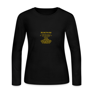 tshirt_pilotVersion_nologo_gold - Women's Long Sleeve Jersey T-Shirt