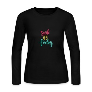 Smile its Friday - Women's Long Sleeve Jersey T-Shirt