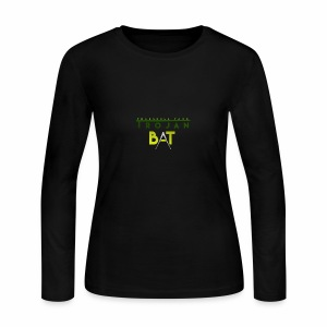 New Trojan Bat Logo - Women's Long Sleeve Jersey T-Shirt