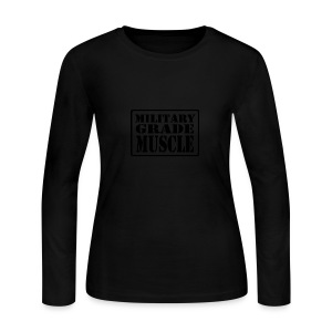Military Grade Muscle Black - Women's Long Sleeve Jersey T-Shirt