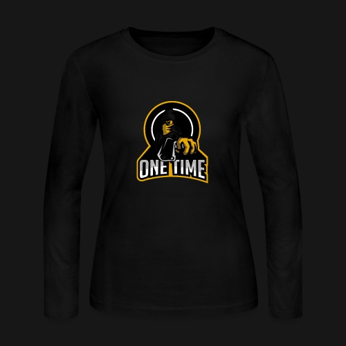 OneTime Gaming Logo - Women's Long Sleeve Jersey T-Shirt