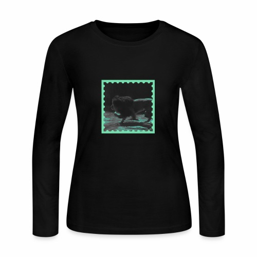 Lion on the prowl - Women's Long Sleeve Jersey T-Shirt