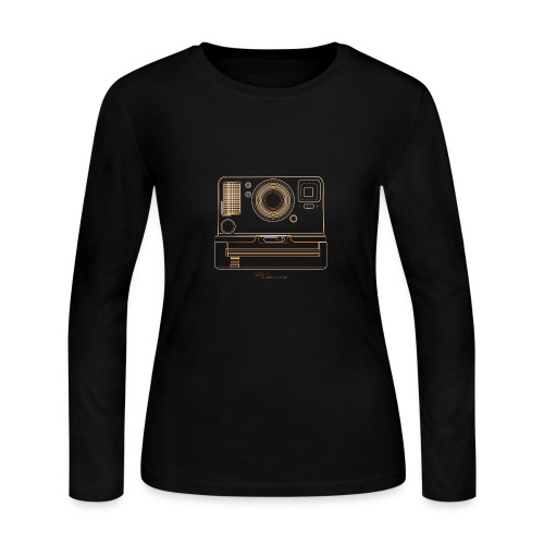 Camera Sketches - Polaroid OneStep2 - Women's Long Sleeve Jersey T-Shirt