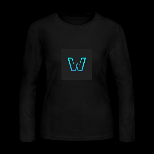 DoubleU Black Non-Transparent - Women's Long Sleeve Jersey T-Shirt