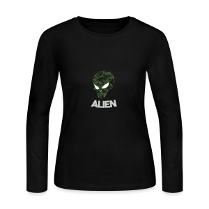Military Alien - Women's Long Sleeve Jersey T-Shirt