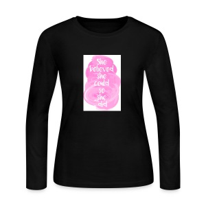 She believed she could - Women's Long Sleeve Jersey T-Shirt