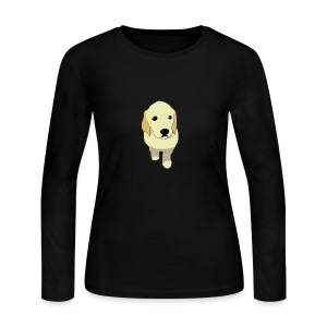Golden Retriever puppy - Women's Long Sleeve Jersey T-Shirt