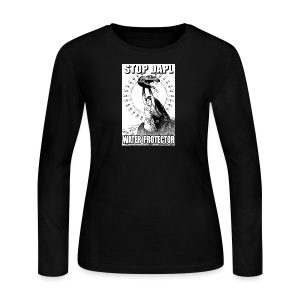STOP DAPL Water Protector - Women's Long Sleeve Jersey T-Shirt