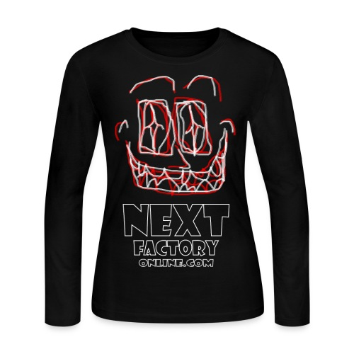 Next Factory Online Showcard Red and White WhtText - Women's Long Sleeve Jersey T-Shirt