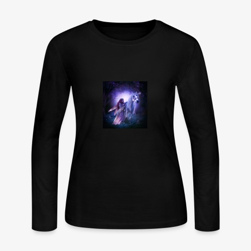 Fairy and her unicorn - Women's Long Sleeve Jersey T-Shirt