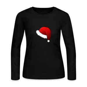 Carmaa Santa Hat Christmas Apparel - Women's Long Sleeve Jersey T-Shirt
