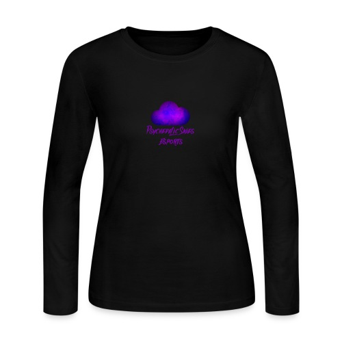 Psychedelic Skies Team Logo - Women's Long Sleeve Jersey T-Shirt