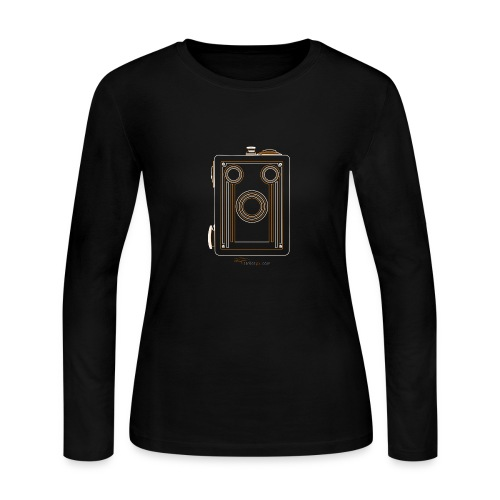 Camera Sketches - Brownie Target 16 - Women's Long Sleeve Jersey T-Shirt