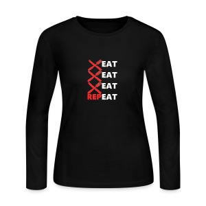 Eat, Eat, Eat, RepEAT - Women's Long Sleeve Jersey T-Shirt