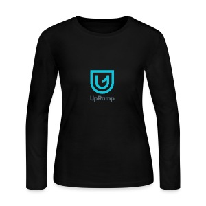 UpRamp Logo Blue Stacked ColorWhite - Women's Long Sleeve Jersey T-Shirt
