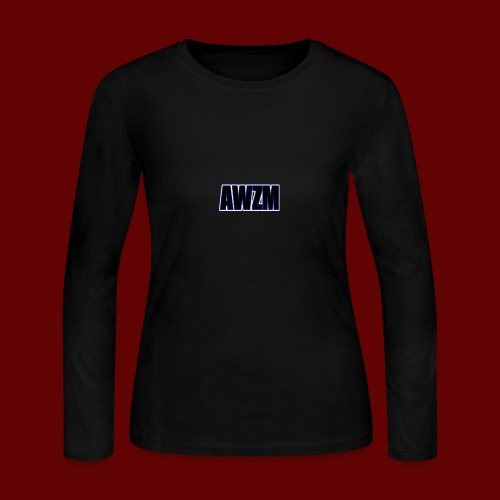AWZM (Awesome Shortened) text design. - Women's Long Sleeve Jersey T-Shirt