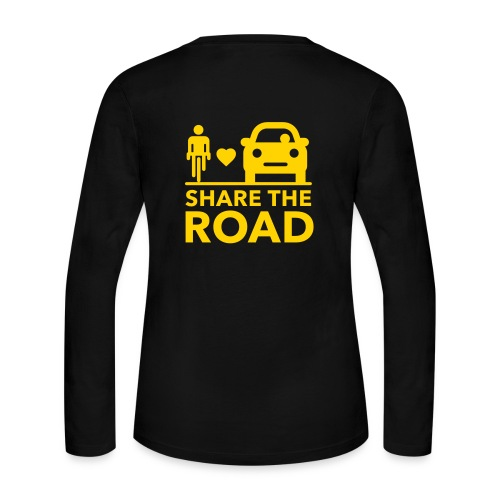Share the road - Women's Long Sleeve Jersey T-Shirt