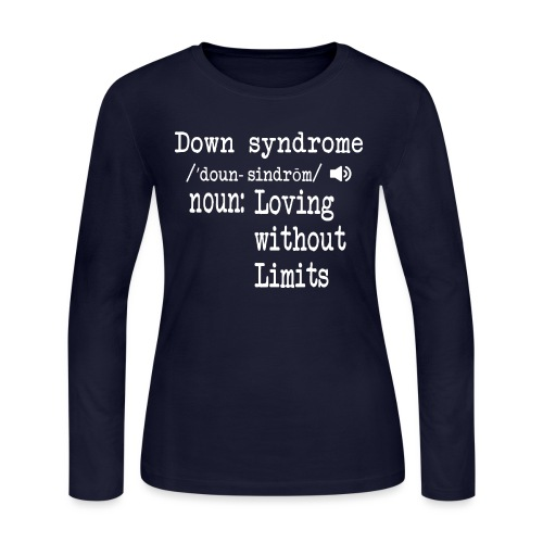 Down syndrome Definition - Women's Long Sleeve Jersey T-Shirt