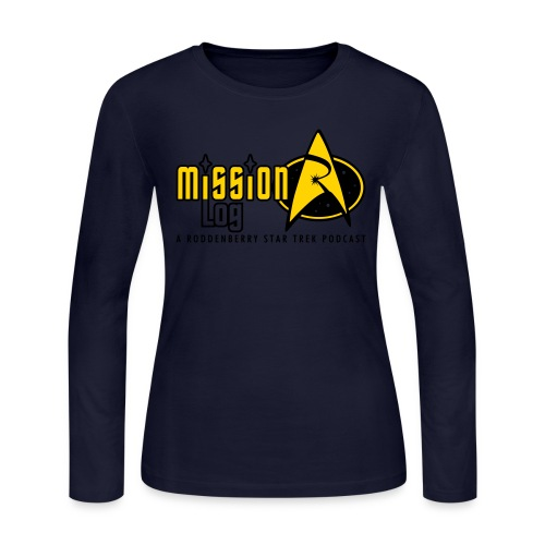 Logo Wide 2 Color Black Text - Women's Long Sleeve Jersey T-Shirt