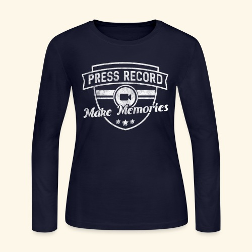 pressrecord_makememories2 - Women's Long Sleeve Jersey T-Shirt